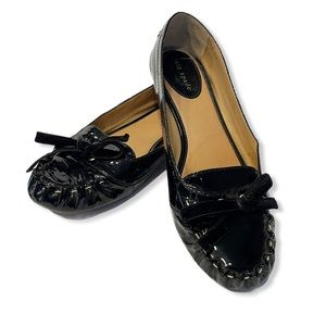 Kate Spade Shoes Lacey Patent Leather Flats Bow